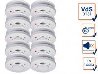 10er Set ELRO Rauchmelder 10 Jahre Batterie VdS Zertifiziert, Küchen geeignet