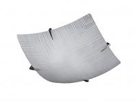 Deckenleuchte Tira, chrom / glas weiß mit Dekor Honsel-Leuchten