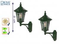 2er Set Konstsmide Außenwandleuchte VIRGO grün, Laterne Leuchte Hauswand E27
