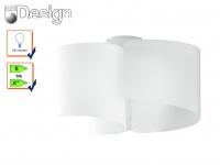 Design Deckenleuchte IMAGINE 3flammig Lampenschirm Glas weiß Ø47cm, Deckenlampe
