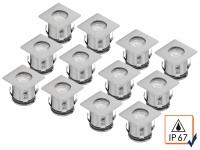 2x 6er Set Bodeneinbauleuchte LED bis 1, 25t belastbar Boden-Einbaustrahler Spots