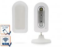 Drahtlose, batteriebetriebene IP-Überwachungskamera auch für den Aussenbereich