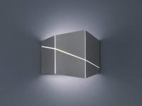 Up & Down Wandlampe eckig in Nickel matt 18 x 14, 5 x 6, 5cm, modernes Flurlicht