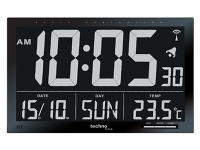 Digitale Funkuhr Funkwanduhr Wanduhr Thermometer Jumbo-LCD XXL-LCD