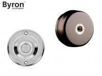 Elektrische Türklingel schwarz rund mit Klingelknopf Chrom, 2 Draht Klingel Gong