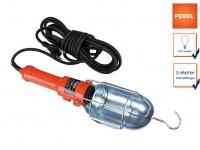 Handlampe Arbeitsleuchte mit Schutzkorb und Aufhängung, Werkstattlampe Baulampe