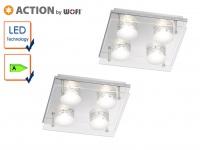 2er Set LED Deckenleuchte ENVY, 22 x 22 cm, LED Deckenlampen Deckenleuchten