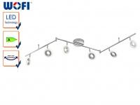 6-flammige LED Deckenleuchte DIVINA, L. 163cm, dimmbar, Deckenlampen Spotleiste