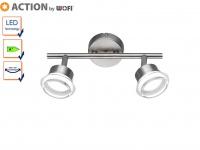 LED Deckenstrahler Chrom / Acryl, Spots schwenkbar, Action by Wofi
