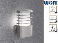 LED Wandleuchte / Außenleuchte in Edelstahl H. 23cm Fassadenbeleuchtung Haus