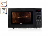Mikrowelle mit Grill 36l Garraum Drehteller 1000-1100W Digitaldisplay Domo