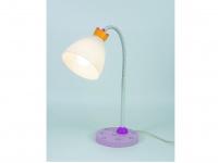 Leseleuchte Schreibtischlampe für Kinder Flexrohr KRÖNCHEN rosa/weiss Mädchen