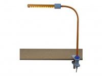 LED Klemmleuchte Schreibtischleuchte biegsam+ flexibel LED-Strip pastellorange