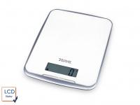 Digitale Küchenwaage bis zu 10 kg, LCD-Display, Touch Screen, Farbe Weiß