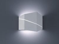 Eckige Wohnzimmer Wandbeleuchtung in weiß matt Up & Down Lichteffekt 18x14, 5cm