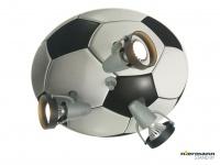 Dreiflammiger Deckenstrahler FUSBALL Spots schwenkbar Kinderzimmerleuchte