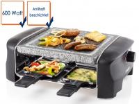 Raclette mit Steinplatte für 4 Personen 600 Watt Temperatur einstellbar