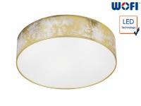 LED Deckenleuchte Ø 40 cm goldfarben 21W Deckenbeleuchtung Wohnzimmer Diele