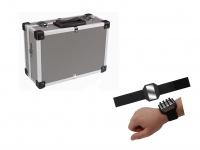 STABILER Werkzeugkoffer Aluminium Grau + Magnetband, Alukoffer Alu Werkzeugkiste