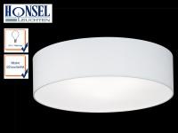 Runde LED Deckenleuchte Schirm weiß / Abdeckung satiniert Ø45cm Wohnraumleuchten