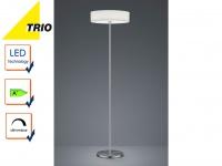 Trio LED Design Stehlampe LUGANO dimmbar, Stoffschirm weiß, Stehleuchte Wohnraum