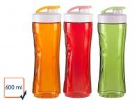 3er SET Ersatzflaschen 600ml Rot-Orange-Grün für Smoothie Maker Mixer DO434