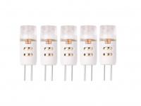 5er-Set Niedervolt SMD-LED Leuchtmittel 1, 2 Watt warmweiß, G4 / 12V