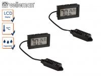 Kombi-Set digital Einbau Hygrometer & Thermometer, Luftfeuchtigkeit + Temperatur