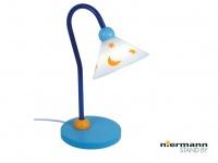 Kinder Leseleuchte Schreibtischlampe flexibel PRINZ Kinderlampe hellblau/weiß