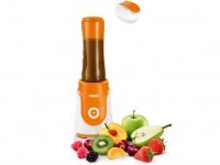Orange / Weißer Standmixer 250W 600ml Trinkflasche Blender Smoothie Maker Mixer