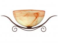 Wandleuchte, Landhausstil, Glas marmoriert, Wofi-Leuchten