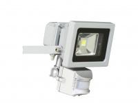 SMD-LED Fluter mit Bewegungsmelder 10 Watt, 600 Lumen grau Ranex