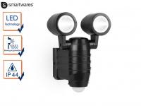 2-fl. LED Sicherheitsleuchte mit Bewegungsmelder Batteriebetrieb Wandleuchte