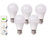 5er Set LED Leuchtmittel 9 Watt, 806 Lumen, 2700 Kelvin, E27-Sockel, dimmbar