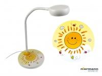 Nachttischleuchte Kinderzimmer flexibel Schreibtischlampe für Mädchen SUNNY
