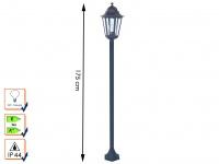 Wegeleuchte/Stehleuchte Classico Aluminium 175cm E27 RANEX Gartenlaterne Leuchte