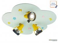 LED Kinderlampe Deckenstrahler BABYLINE 3 Spots schwenkbar Lampe Kinderzimmer