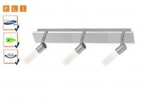 LED Deckenstrahler 3-flammig, 46 cm, Spots schwenkbar, FLI-Leuchten