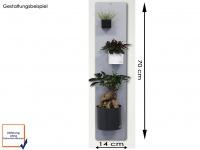 Set aus Magnettafel und 3 verschiedenen Töpfen, Wandaufbewahrung, KalaMitica