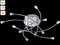 LED-Deckenleuchte / Deckenlampe STAR LED, Ø 64 cm, Honsel