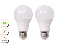2er Set LED Leuchtmittel 9 Watt, 806 Lumen, 2700 Kelvin, E27-Sockel, dimmbar