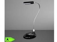 Moderne LED Tischleuchte FLEX in schwarz, 12-flg. Action by Wofi