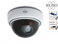 Dome Kamera Attrappe weiß LED Blitzlicht - Fake Dummy Überwachungskamera Innen