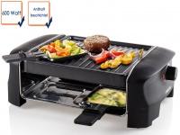 Raclette für 4 Personen 600 Watt antihaftbeschichtet Bratplatte wendbar