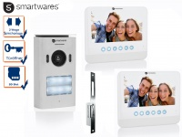 Zweiparteien Videosprechanlage LCD Bildschirm + Türöffner für weitöffnende Türen