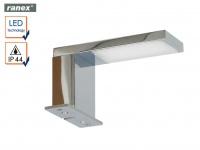 Moderne, Chrom glänzende LED Spiegelleuchte JESOLO fürs Badezimmer, Badlampe