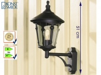 Konstsmide Außenwandleuchte VIRGO schwarz Laterne Leuchte Hauswand Terrasse E27