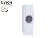 Beleuchteter Funk Klingeltaster weiß für drahtlos Türklingeln Byron BY-Serie