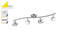 4flammiger TRIO LED Deckenstrahler SHARK, Spots schwenkbar, Deckenlampe Strahler