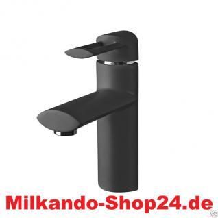 Wasserhahn Armatur Waschtischarmatur Einhebelmischer Schwarz Einhandmischer